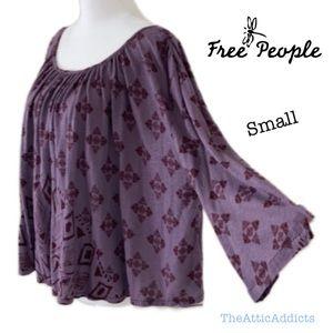 Free People Geometric Tribal Top T shirt